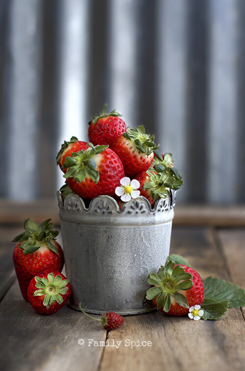 Fresh Strawberries for Salted Caramel Chocolate Covered Strawberries by FamilySpice.com