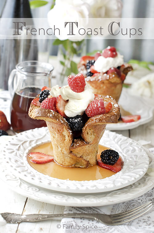 Baked French Toast Cups by FamilySpice.com