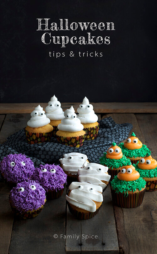 Tips and Tricks for Halloween Cupcakes by FamilySpice.com