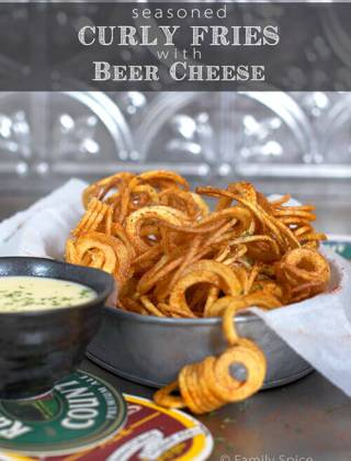 Game On: Seasoned Curly Fries with Beer Cheese