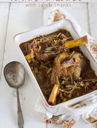 Persian String Bean Stew with Lamb Shanks (Khorest-e Loobia Sabz) | Giveaway