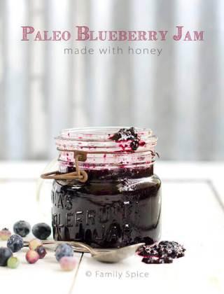Paleo Blueberry Jam Made with Honey {Video}