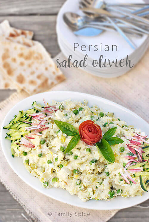 Salad Olivieh (Persian Potato Salad with Chicken) by FamilySpice.com