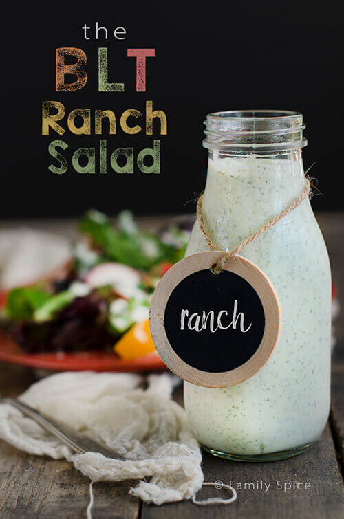 The BLT Ranch Salad with Quinoa by FamilySpice.com