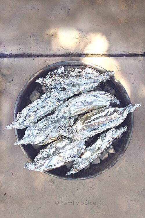 Foil Packet Potatoes for Campfire Carne Asada Fries by FamilySpice.com