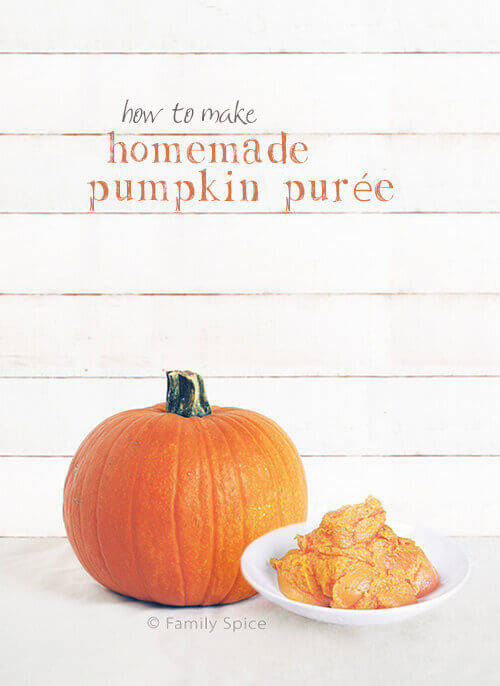 Canned pumpkin may be convenient, but nothing beats the flavor of homemade pumpkin puree. And you know EXACTLY what you put in it! - by FamilySpice.com