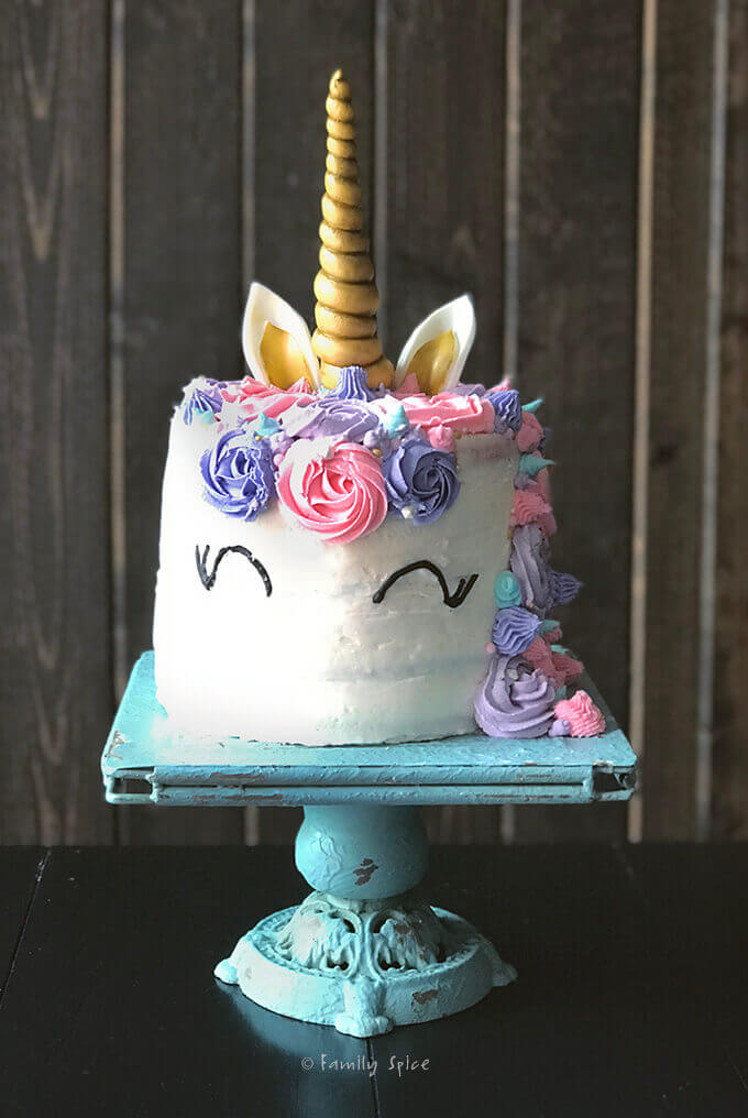 How To Draw A Unicorn Cake : unicorn, Unicorn, Rainbow, Layers, Family, Spice
