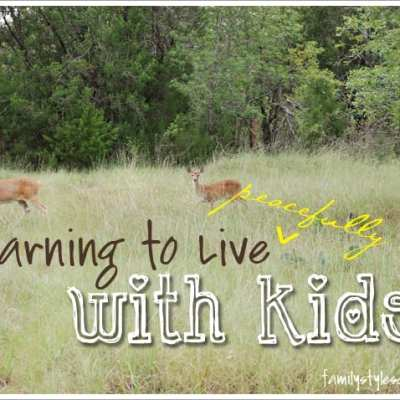 Learning to Live {Peacefully} with Kids Part 1