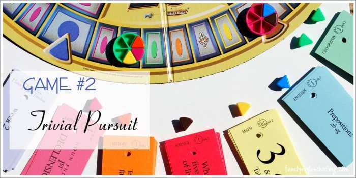 play Trivial Pursuit with Classical Conversations flashcards