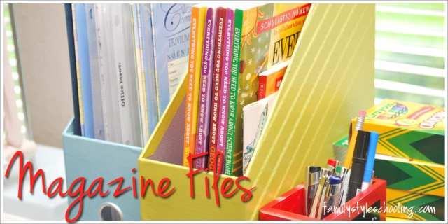 Schoolroom storage must haves magazine files