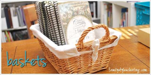 school room storage must haves baskets