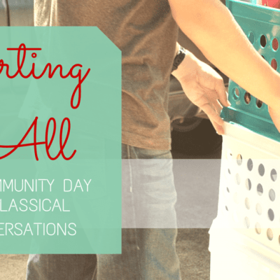 Carting it All to Community Day at Classical Conversations