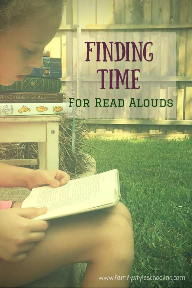 Finding time for read alouds during the day