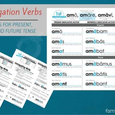 Latin Verb Conjugations Present Stem Worksheets