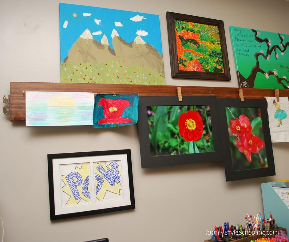 Showcase kid's artwork