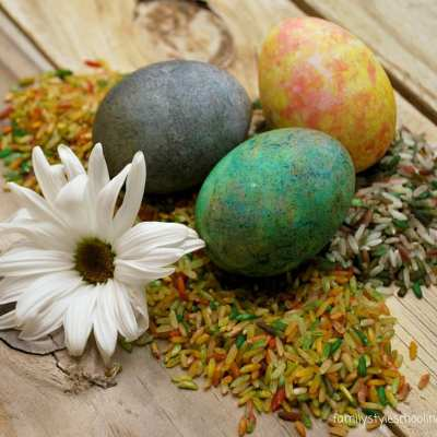 Sweet & Simple: Dye Eggs with Rice and Food Coloring