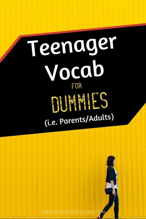 teenager vocab