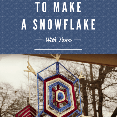 How To Make A Snowflake With Yarn
