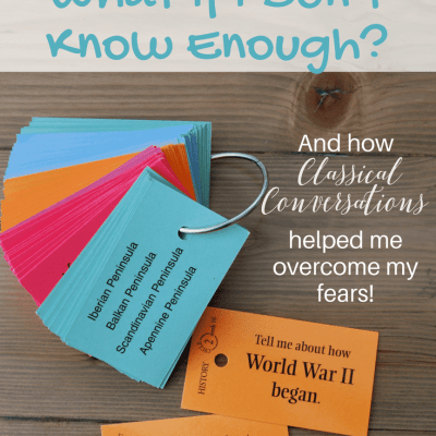 Homeschooling Fear: What if I don't know enough?