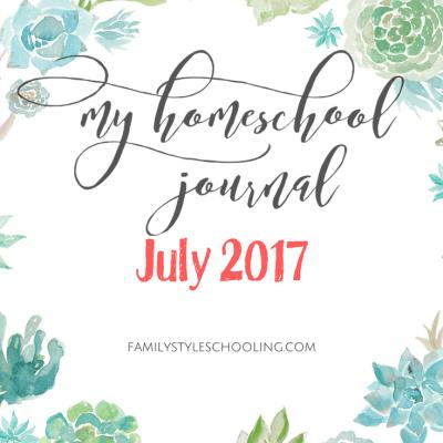 July Homeschool Mother's Journal