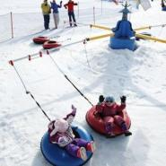 Gorgoza Park snow tubing carousel in Park City, Utah provides mini thrills for tykes.