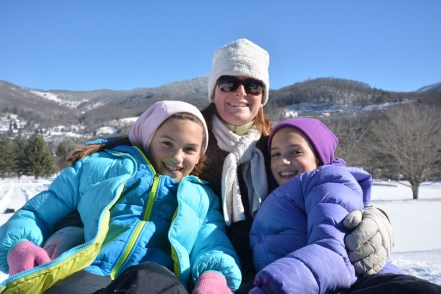 Snow tubing on Sugar Mountain