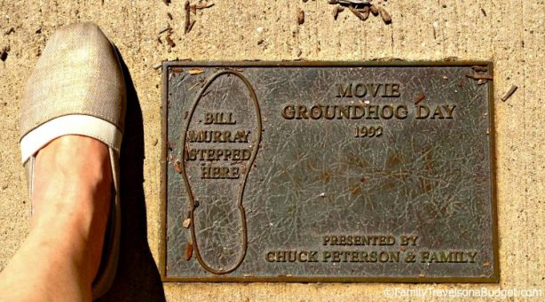 Groundhog Day Puddle Scene Plaque