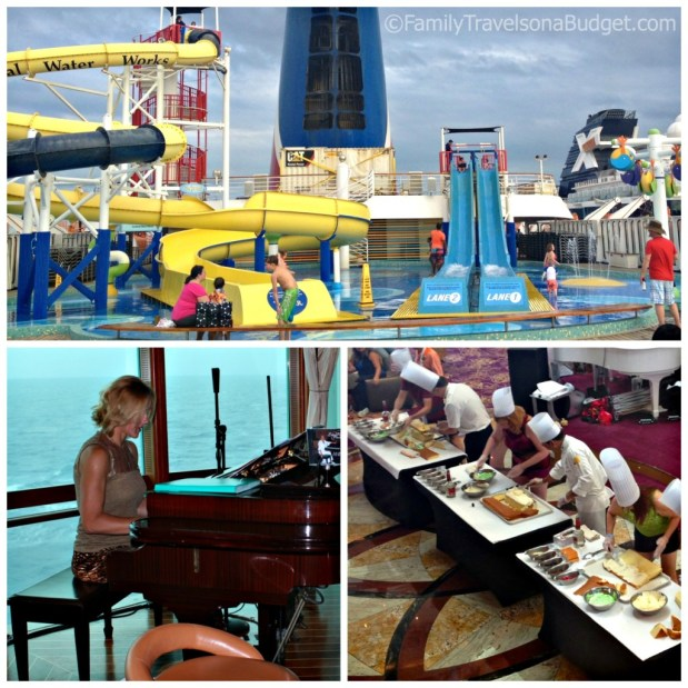 Enjoy the pool deck, entertainment at the piano bar, or a demonstration… and even more during Sea Days!