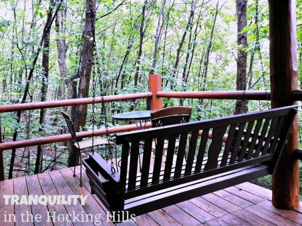 Hocking Hills Cabins Swing