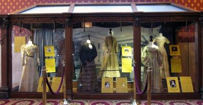 """First Ladies' dresses featured for the """"Mom-in-Chief"""" exhibit."""