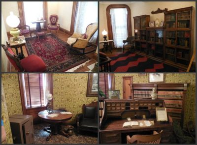 Visitors get a chance to see how the house might have looked when the McKinleys were staying there. The bottom images show the study that William used.