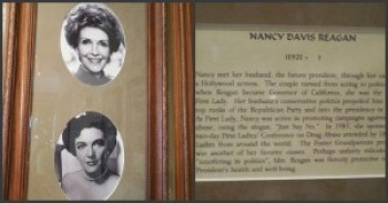 Nancy Reagan's shrine