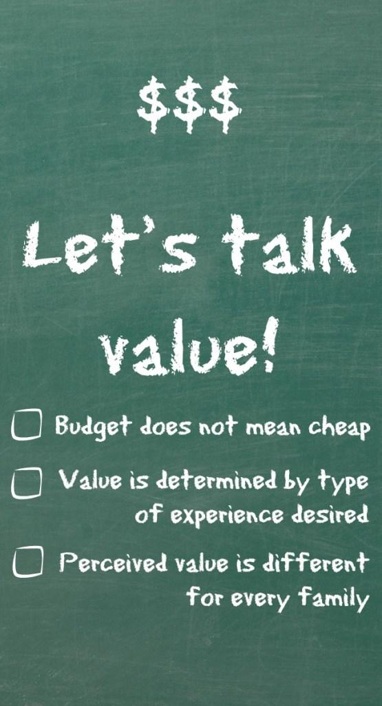 Let's talk value!