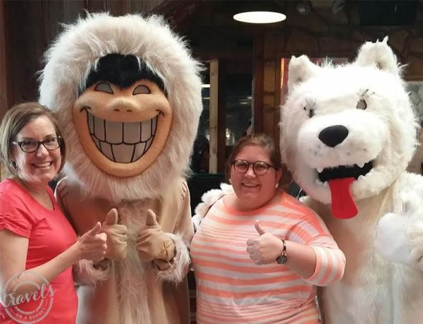 Eskimo Joe's mascots are everywhere, including their collectible t-shirts