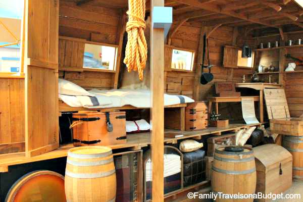 This cutaway of the ship shows the clever design of storage areas