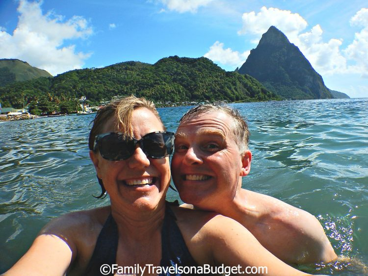 St. Lucia, swimming in Souffriere