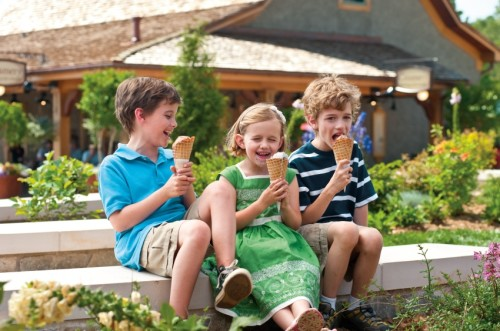 Kids and ice cream in Antler Hill Village. Credit: The Biltmore Company