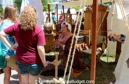 Blackbeard's pirate camp in Hampton VA