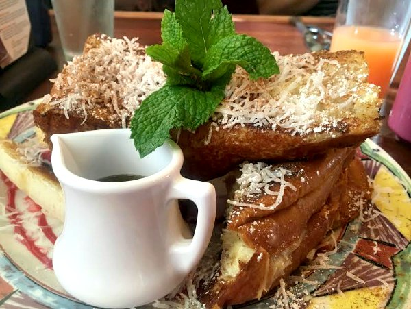Baltimore: Miss Shirley's famous coconut cream cheese stuffed french toast