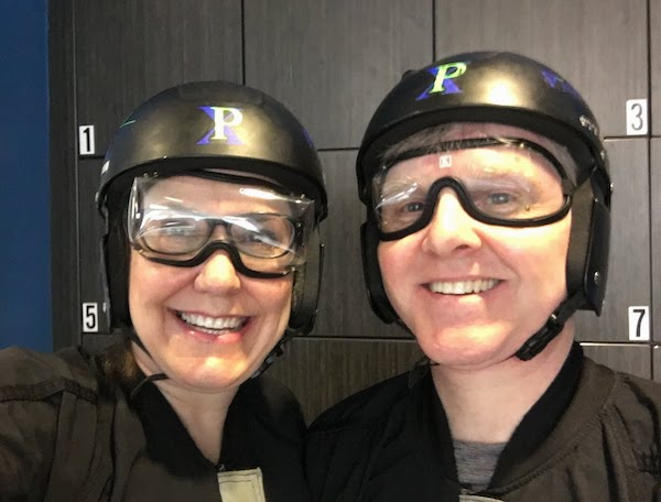 Wind tunnel skydiving is a rush!