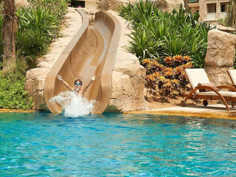 sofitel on the palm dubai - kids waterslide family hotels Dubai