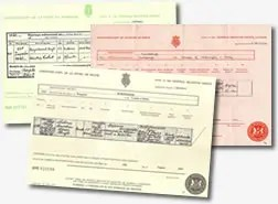 Birth Marriage and Deathc Certificates