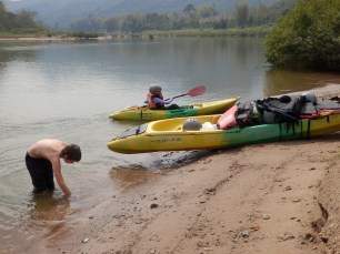 We tried to have a few stops for swimming and clarting on.