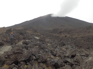 Steaming hot volcano