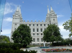 The Mormom temple in Salt Lake City