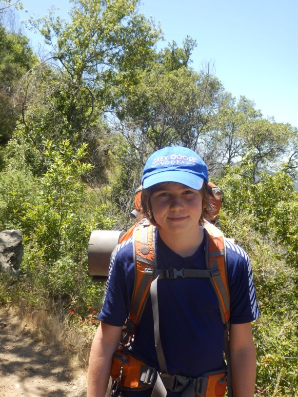 Hiking through scrub -it was warm