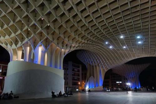 Metropol Parasol by night