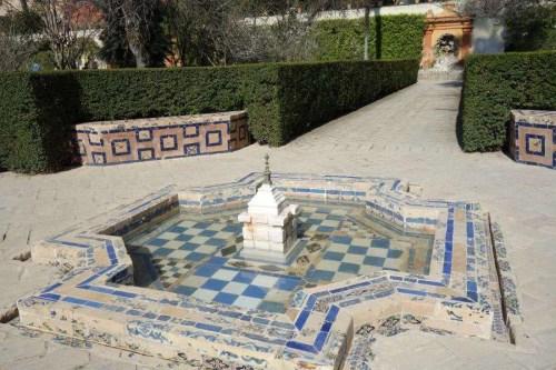 Giardini dell'Alcazar fontana araba