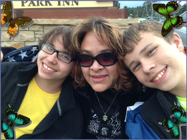 Suzette with her two sons