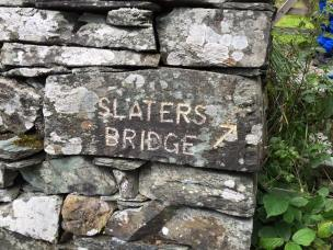 Look out for the path to the right to Slater Bridge